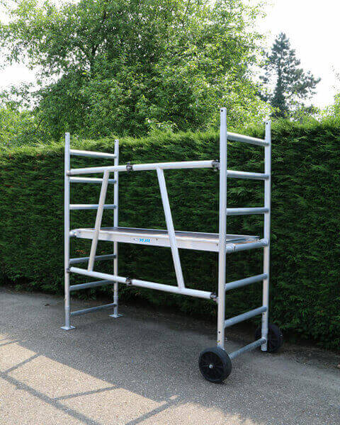 Echafaudage de jardin longueur plateau for Bar roulant de jardin