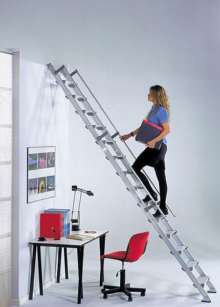echelle de meunier alu de haute qualit. Black Bedroom Furniture Sets. Home Design Ideas