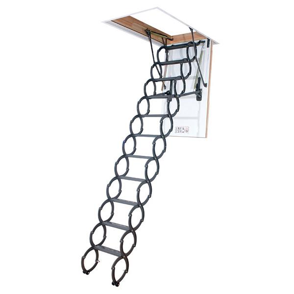 echelle escamotable a ciseau tr s esth tique. Black Bedroom Furniture Sets. Home Design Ideas