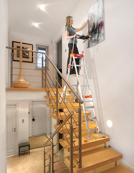 Echelle pour escalier pliante avec base extra large - Echelle pour escalier tournant ...