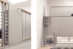 escalier escamotable mezzanine les 25 meilleures id es de la cat gorie escalier les 25. Black Bedroom Furniture Sets. Home Design Ideas