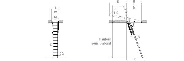 1 ouverture du plafond de 60 x 120cm ldk60120 280. Black Bedroom Furniture Sets. Home Design Ideas