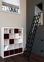 escalier escamotable de meunier industriel bois pas japonais. Black Bedroom Furniture Sets. Home Design Ideas