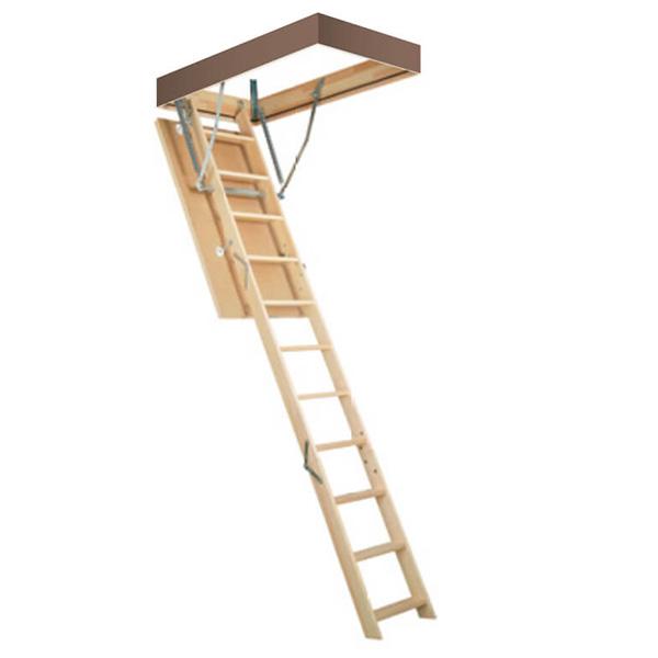 escalier escamotable bois avec ou sans rampes de s curit. Black Bedroom Furniture Sets. Home Design Ideas