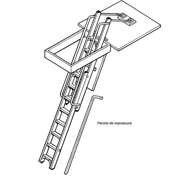 85mm escalier escamotable livré sans trappe création de la trappe