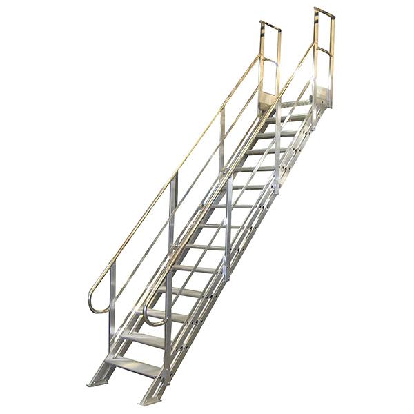 Escalier industriel aluminium pour les mont es de quais ou acc s machines - Escalier industriel prix ...