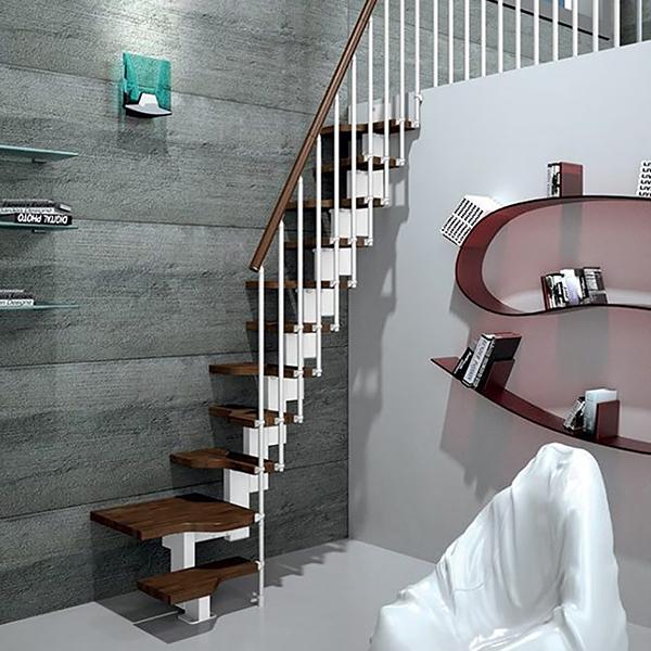 escalier gain de place pour un encombrement mini. Black Bedroom Furniture Sets. Home Design Ideas