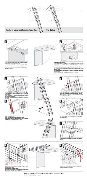 escalier escamotable coulissant 2 plans. Black Bedroom Furniture Sets. Home Design Ideas