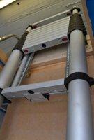 escalier escamotable télescopique plié