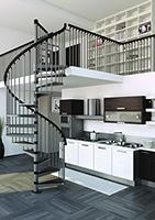escalier hélicoidal métal