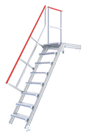 escalier industriel avec plateforme
