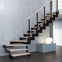 Escalier Escamotable De Meunier Industriel Bois Pas Japonais