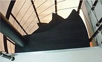 haut de l'escalier japonais