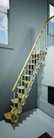 Escalier de meunier en bois naturel