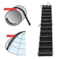 escalier de toit