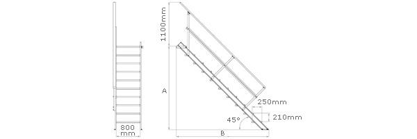 schema de l'escalier industriel