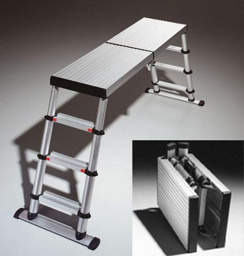 plateforme t lescopique ultra l g re pour 3 niveaux de travail. Black Bedroom Furniture Sets. Home Design Ideas