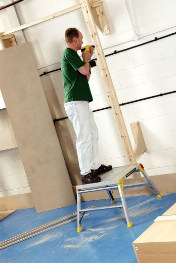 plateforme de travail aluminium grande largeur. Black Bedroom Furniture Sets. Home Design Ideas
