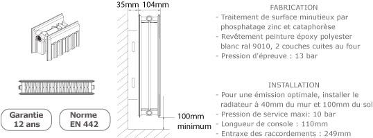 radiateur acier de hauteur 300mm. Black Bedroom Furniture Sets. Home Design Ideas