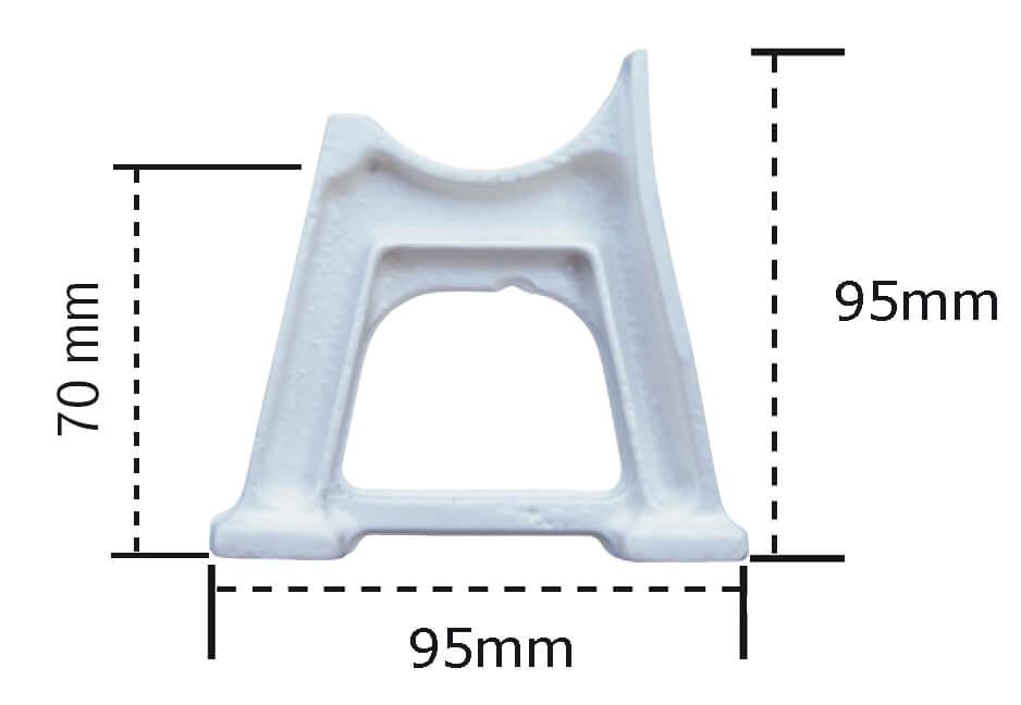 pied de radiateur fonte a rideau ou a colonne