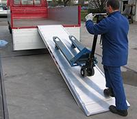 rampes de chargement grande largeur