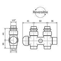 dimensions de la vanne thermostatique