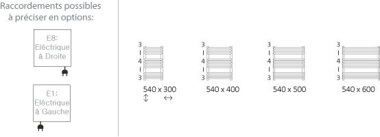 Petit s che serviette de 540mm de haut et de 300 600mm de large for Petit seche serviette electrique
