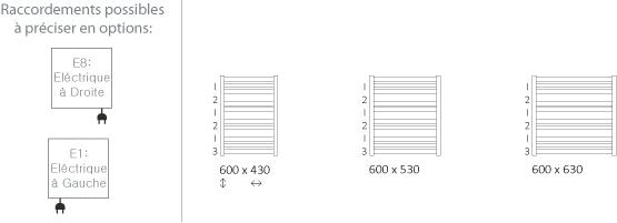 Petit s che serviette de 600mm de haut et de 430 630mm de large for Petit seche serviette electrique