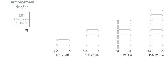 1 s che serviette chrom lectrique de 430mm de haut et 504mm de large puissance 100w retro. Black Bedroom Furniture Sets. Home Design Ideas