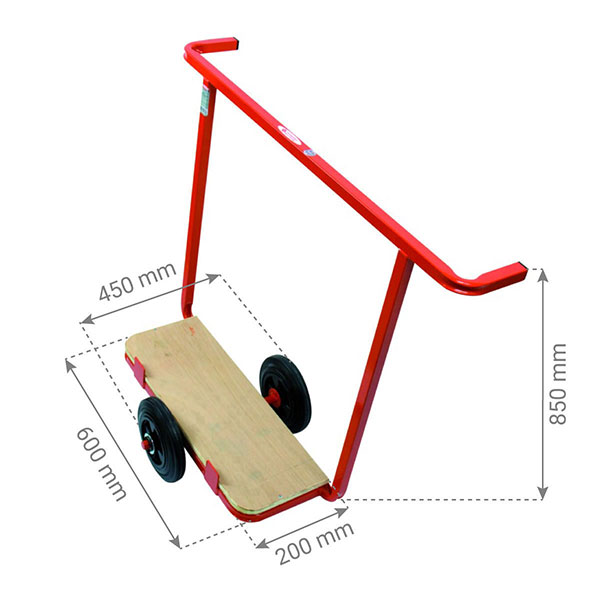 chariot porte plaque standard dimensions