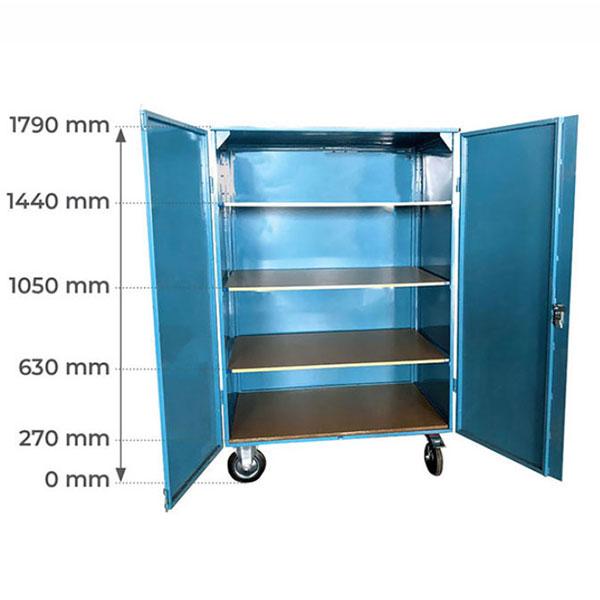 armoire roulette metallique etagere stockage