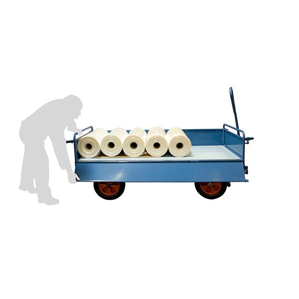 chariot a train avant pivotant toles charge max 1000kg