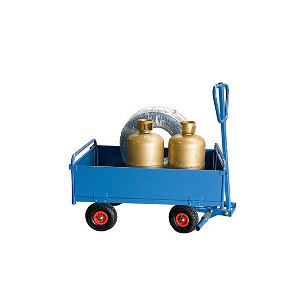 chariot a train avant pivotant toles charge max 500kg