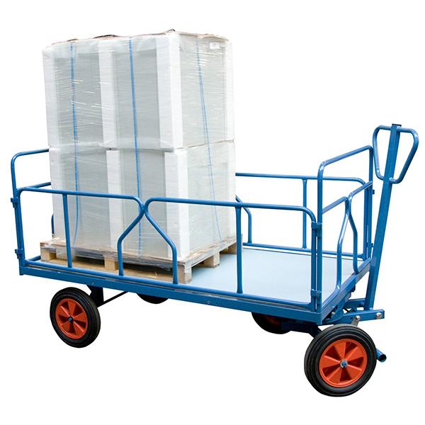 chariot a train avant pivotant tubes charge max 1000kg