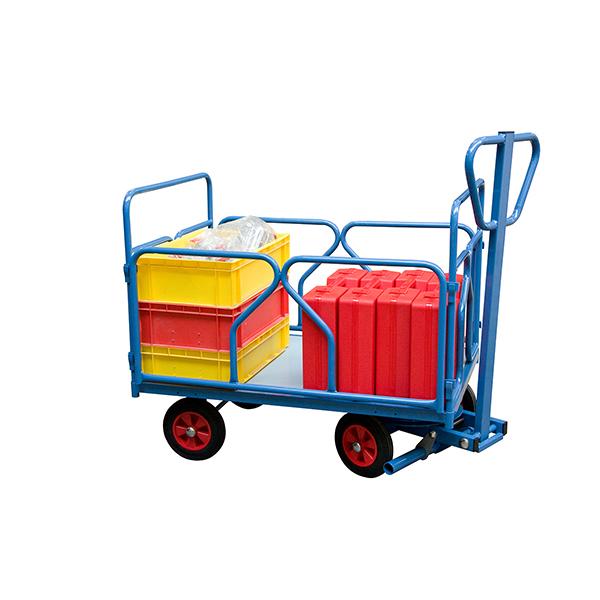 chariot a train avant pivotant tubes charge max 500kg