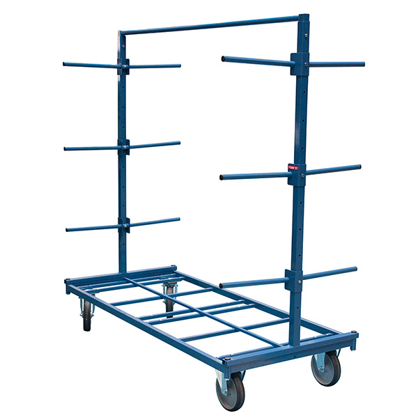 chariot cantilever charge longue