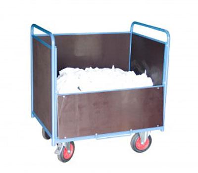 chariot conteneur ouvert bois