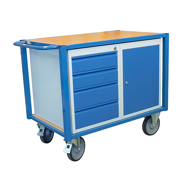chariot etabli 1 porte 4 tiroirs 500kg