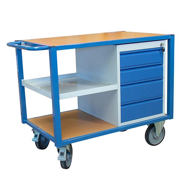 chariot etabli tiroirs demi plateau 500kg