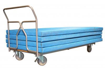chariot tapis gymnastique