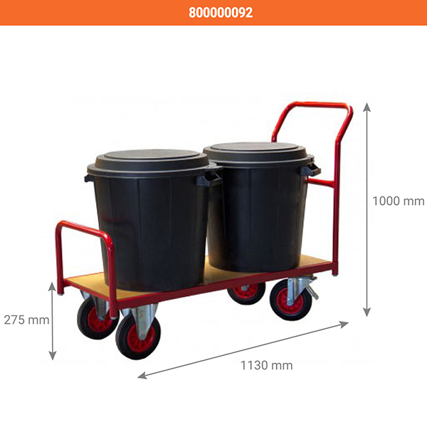 dim chariot etroit 250kg