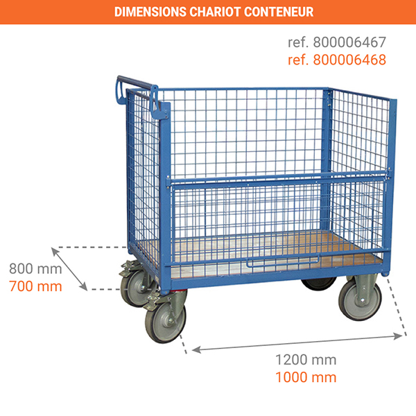 dimensions chariot 800006467
