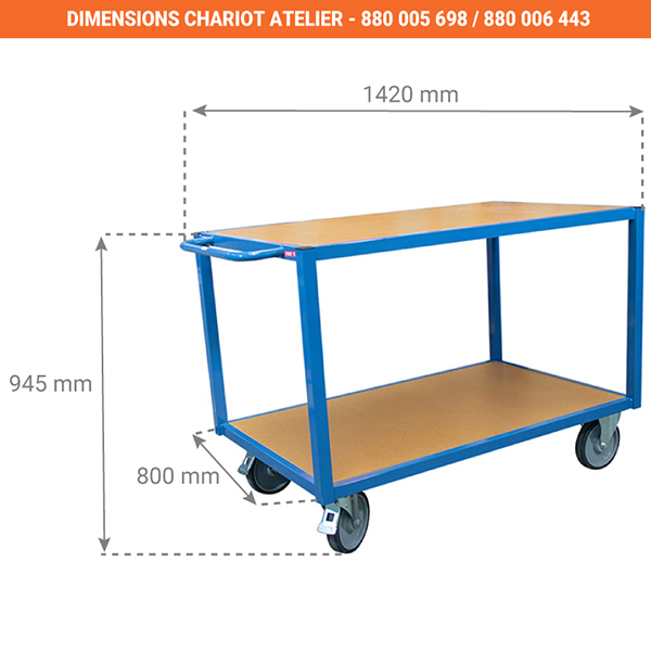 dimensions chariot 880000698