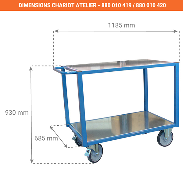dimensions chariot 880010419