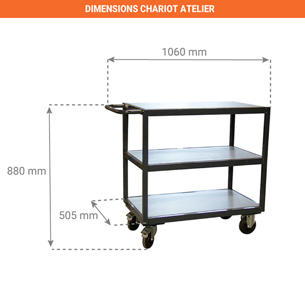 dimensions chariot 880010423