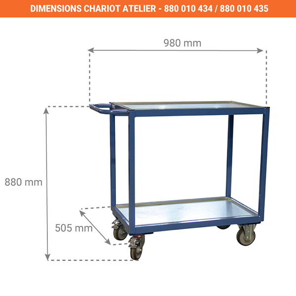 dimensions chariot 880010434
