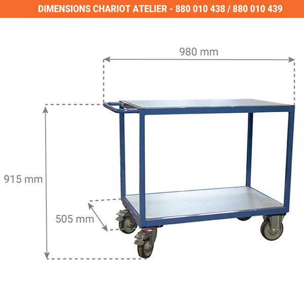 dimensions chariot 880010438