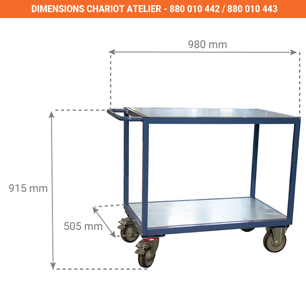 dimensions chariot 880010442