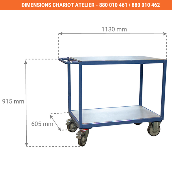 dimensions chariot 880010461