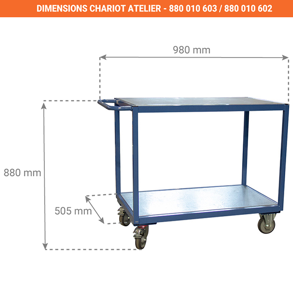 dimensions chariot 880010603